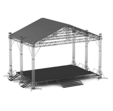 Сценический комплекс 12,4х9 крытый с подиумом