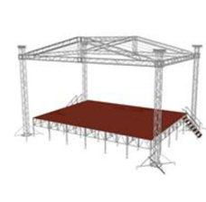 Сценический комплекс 12,4х9 с подиумом без тента